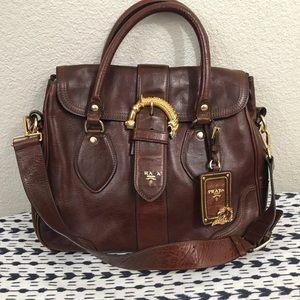 7d3a2fad9625 ... top quality prada bags prada animalier cervo brown leather handbag  purse 13ff5 dd0b3